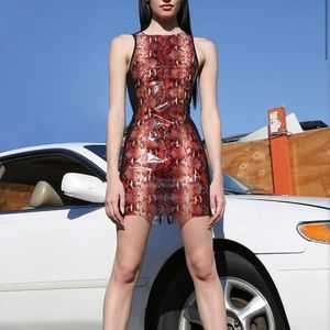 NWT I.AM.GIA Bonnie PVC Snake Print Mini Dress